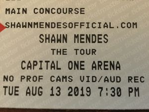 Shawn Mendes Tickets - Capital One Arena - Washington DC for Sale in Germantown, MD
