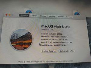 MacOS higt sierra for Sale in Stockton, CA