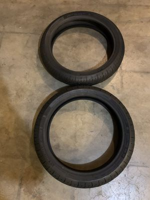 FRONT MOTORCYCLE TIRES (GREAT CONDITION) YAMAHA SUZUKI DUCATI HONDA KAWASAKI for Sale in Montebello, CA