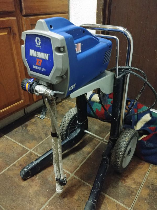 Used but in great shape stillGreco Magnum X7 airless paint sprayer (needs hose and gun)
