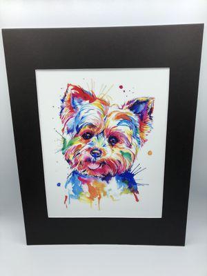 Colorful Yorkie Art Print 11x14 inch for Sale in Miami, FL