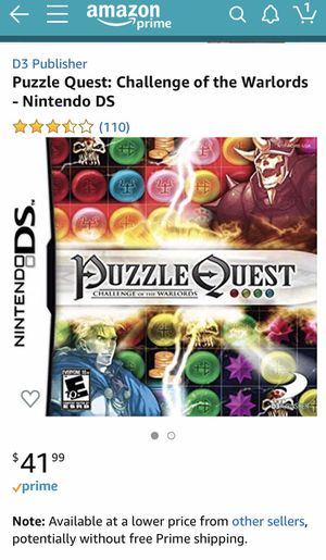 Puzzle Quest DS game for Sale in San Jose, CA