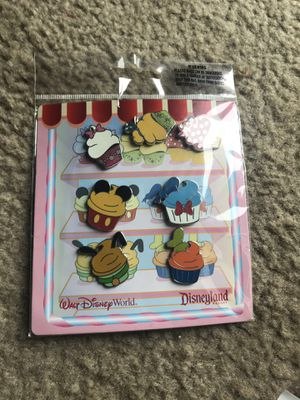 Disney Authentic Disney Parks Disneyland Disneyworld Cupcake Character Collectible Pins for Sale in Westerville, OH
