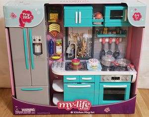 """My Life Cocina para Muñecas, My Life As Doll Kitchen: 64Pc Fridge,Dishwasher, Oven Lights, Sounds for 18"""" Doll, American Girl My Life, Our Generation for Sale in Hutto, TX"""