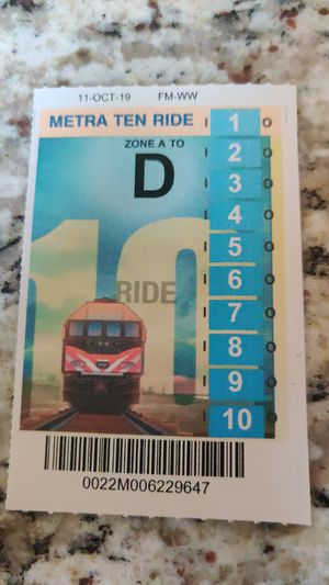 10 ride metra ticket for Sale in Carol Stream, IL