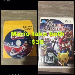 WII SUPER MARIO GAMES TAKE BOTH for Sale in Torrance, CA