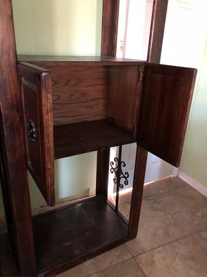 Wine cabinet/bookcase for Sale in Fresno, CA