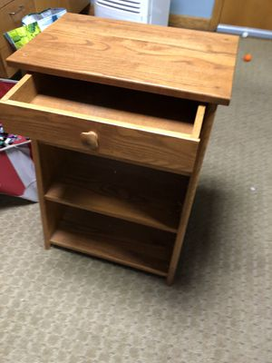Real wood end table with shelves and drawers for Sale in North Andover, MA