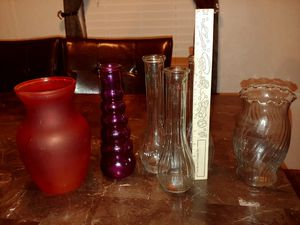Assorted glass flower vases for Sale in Spring Hill, FL