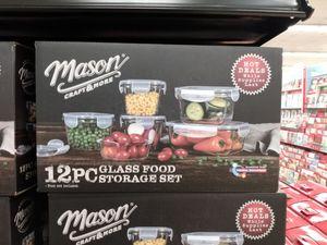 Mason 12 piece food storage set for Sale in Tempe, AZ