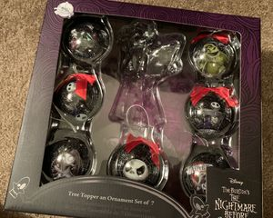 BRAND NEW Nightmare before Christmas ornament set for Sale in Chandler, AZ
