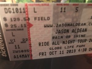 2 x Jason Andean Tickets / section L row 11 seats 5-6 for Sale in Grand Prairie, TX