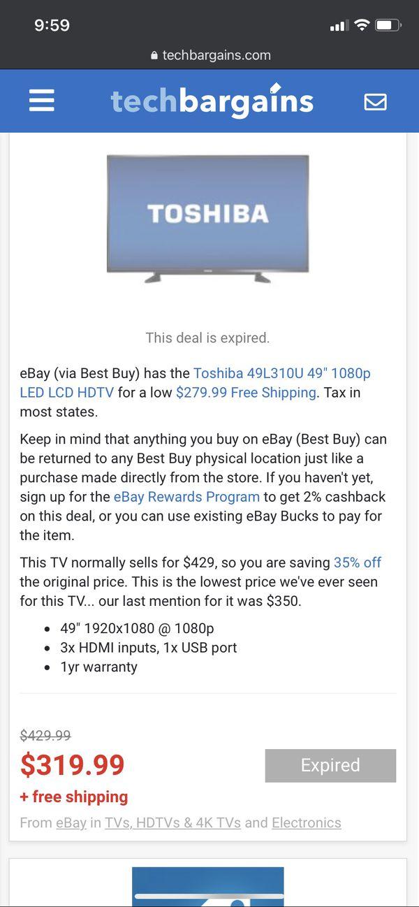 """Toshiba 49"""" 49L310U HDTV"""