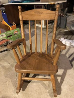 Kids Wooden Rocking Chair for Sale in Buffalo, NY