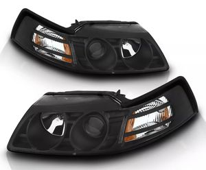 99-04 Ford Mustang Black Halo Projector Headlights Pair - low price for Quick Sale for Sale in Malden, MA