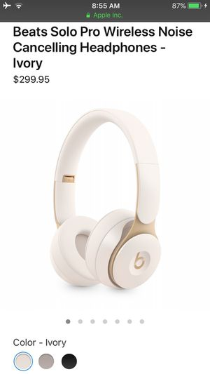 Beats Solo Pro Wireless Noise Cancelling Headphones - Ivory for Sale in El Cerrito, CA