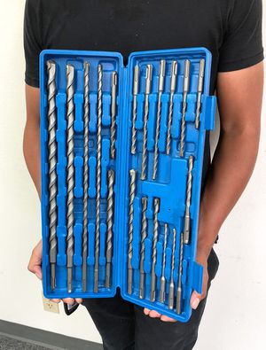 (NEW) $35 Tool Set 20pcs SDS Plus Rotary Hammer Drill Bits Concrete Masonry Hole Universal for Sale in South El Monte, CA