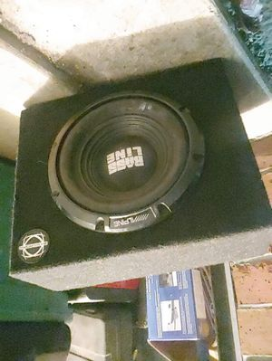 Alpine bass line 10in subwoofer. Bassworx box for Sale in Puyallup, WA