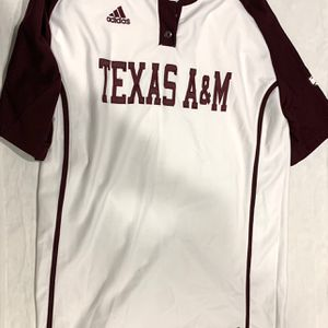 Texas A&M Adidas Baseball White Jersey XS (Fits Larger) for Sale in Southlake, TX