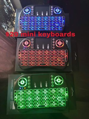 2.4G Backlit Wireless Keyboard Touchpad Rechargeable for Smart TV Box Android PC Computers 💻 for Sale in Huntington Park, CA