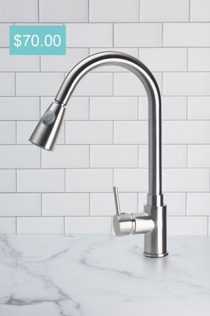 New Brushed Nickel Kitchen Faucet Pull Down With Sprayer Swivel for Sale in Los Angeles, CA