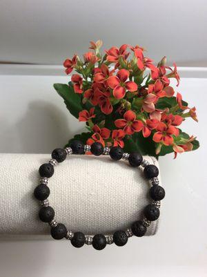 Handmade Silver Lava Rock Bracelet for Sale in Torrance, CA