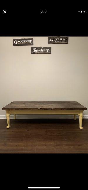 Yellow Farmhouse Distressed Bench! for Sale in Murfreesboro, TN