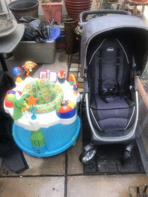 Baby lot- Chicco Bravo stroller, hBaby Jumper, Huggies Diaperslh for Sale in Sunnyvale, CA