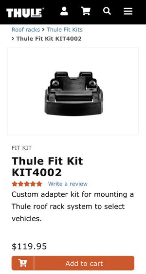 Thule Fit Kit KIT4002 for Sale in Sioux Falls, SD