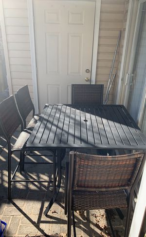 Patio table with four chairs for Sale in Fort Belvoir, VA
