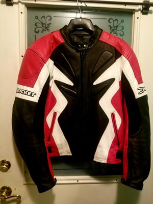 Joe Rocket Motorcycle Leather Jacket..Size 42nMens..Or Med Size ...Has Pads inside..Like New! for Sale in Modesto, CA