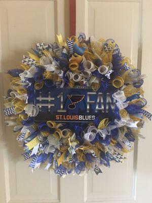 St. Louis Blues wreath for Sale in Belleville, IL