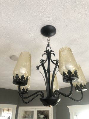 """Chandelier! 19"""" wide. Just taken down. Works! Bulbs included. for Sale in Winchester, MA"""