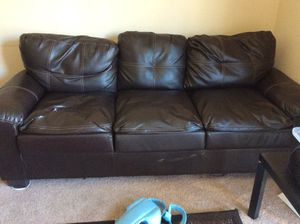 3 seater leather sofa 80$ for Sale in Bloomington, IL