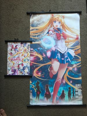 Sailor Moon wall scroll and figure for Sale in Pomona, CA