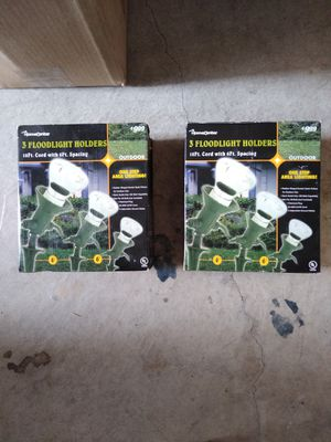 3 Outdoor Floodlight stake holders for Sale in Plano, TX