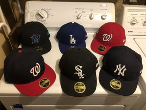 6 Low Profile 59Fifty Fitted hats for $150 size 7 1/2 for Sale in Wheaton, MD