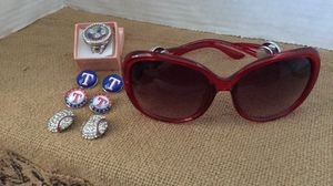 New Texas Rangers Sunglasses and Ring and Charms for Sale in Arlington, TX