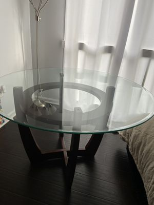 Round glass dining table for Sale in Washington, DC