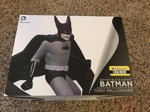 D.C. Collectible Black and white batman statue superhero marvel figure for Sale in Boston, MA