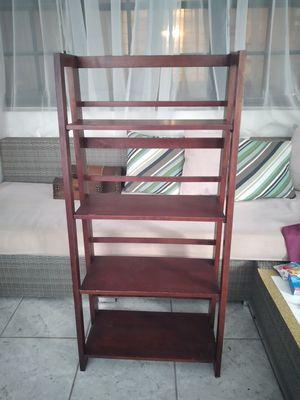 Modern Foldable 4 tier wooden ladder style shelf for Sale in Fort Lauderdale, FL