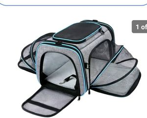 Large Soft Sided Pet Travel TSA Carrier 4 Sides ExpandableCollapsible for Sale in Pompano Beach, FL