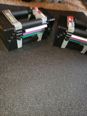 Power block adjustable dumbbells 2x50lbs $210 for Sale in Renton, WA