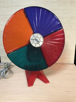 Vintage Color Wheel Spinning Lamp for Sale in Puyallup, WA