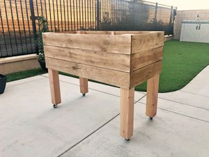 Elevated Garden Planter with Wheels for Sale in Ontario, CA
