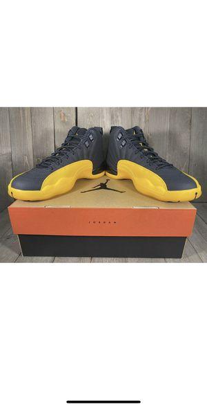 Jordan 12 retro black university gold size 8.0 Men for Sale in Costa Mesa, CA