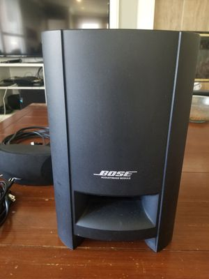 BOSE CineMate Series II Digital Home Theater Subwoofer W/ 2 Speakers + Cords for Sale in HUNTINGTN BCH, CA