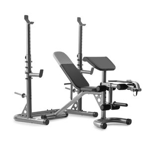 Weider XRS 20 Adjustable Olympic Workout Bench with Independent Squat Rack and Preacher Pad for Sale in Homestead, FL