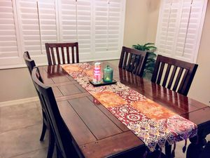Wooden dining table with 6 chairs for Sale in Chandler, AZ