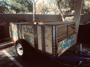TRAILER 4x8 half box spring suspension with a permanent plate ready to go for Sale in Phoenix, AZ